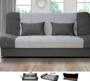 3 seater double bed sofa