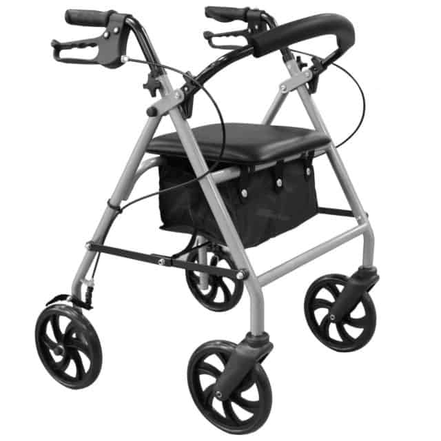 4 wheeled walking frame