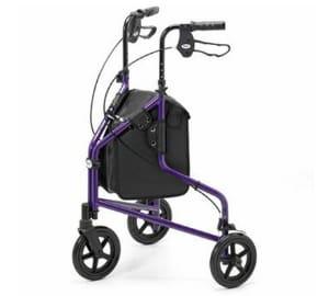 Aluminium Purple 3 Wheeled Tri-Walker Walking Frame