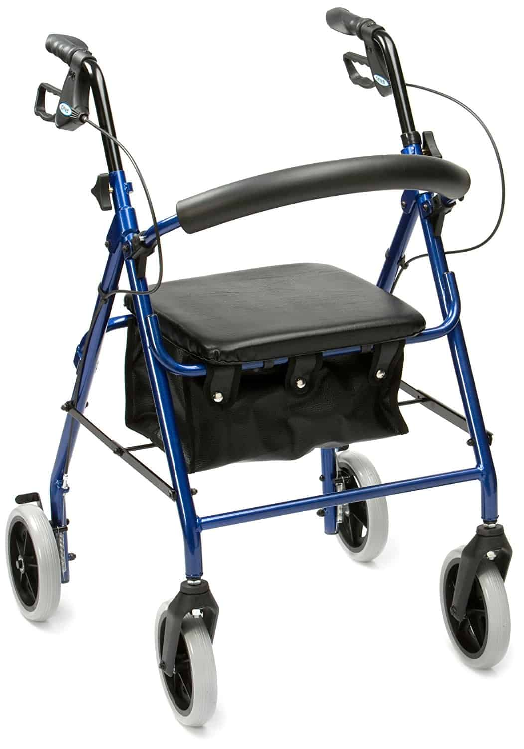 Aluminium Rollator with Padded Seat