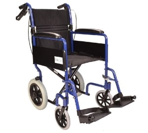 aluminium folding transit travel wheelchair