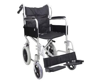 Angel Lightweight Folding Transit Aluminium Travel Wheelchair