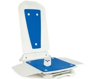 Bath Lift Bathmaster Deltis Complete With Blue Covers for Handicapped, Elderly, Disabled, Accessibility Aid