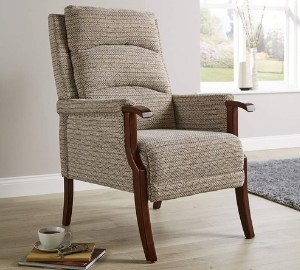 Baxter of California Home Source Fireside Fabric Armchair