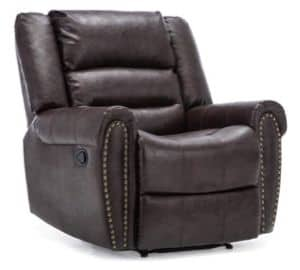 DENVER BONDED LEATHER RECLINER ARMCHAIR