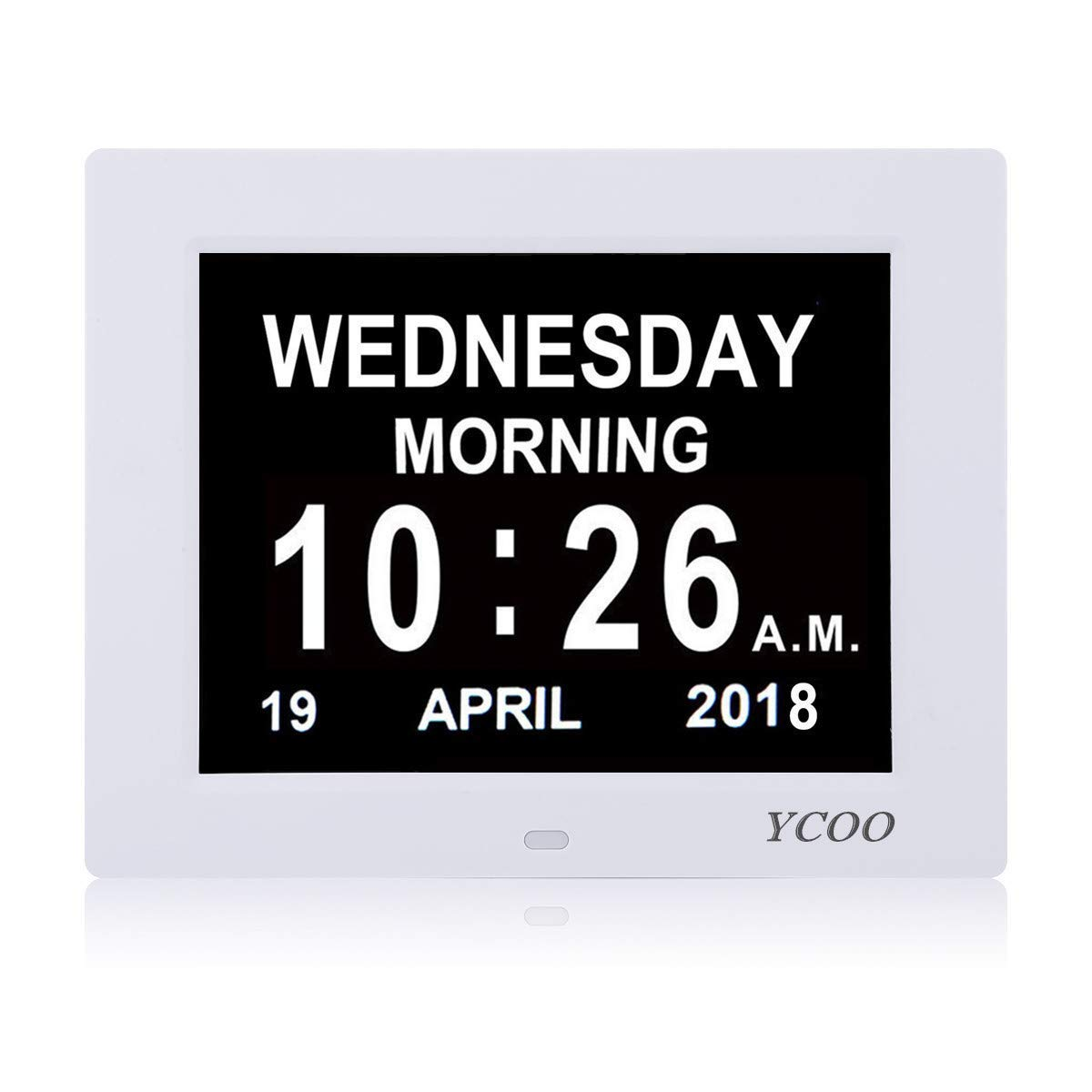 Day Alarm Clock - Extra Large Impaired Vision Digital Clock with Extra Large Non-Abbreviated Day & Month