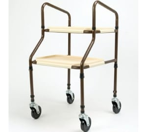 Days Flat Packed Height Adjustable Plastic Shelf Trolley