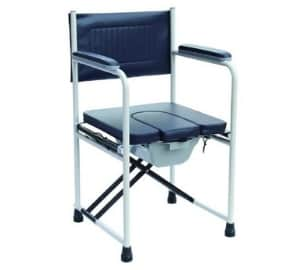 Folding commode chair for the elderly