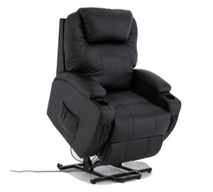 Electric Rise Recliner Leather Armchair