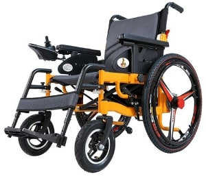 Electric Wheelchair With Polymer Li-Ion Battery
