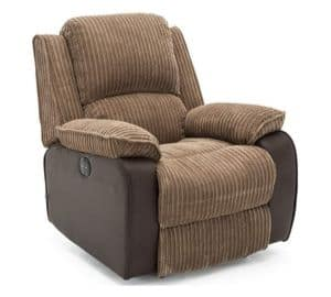 FABRIC POWER RECLINER ARMCHAIR