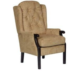 Gold Wentwood Fireside Chair