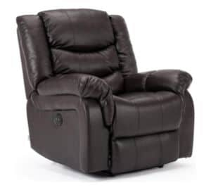 HOME LOUNGE BONDED LEATHER CHAIR