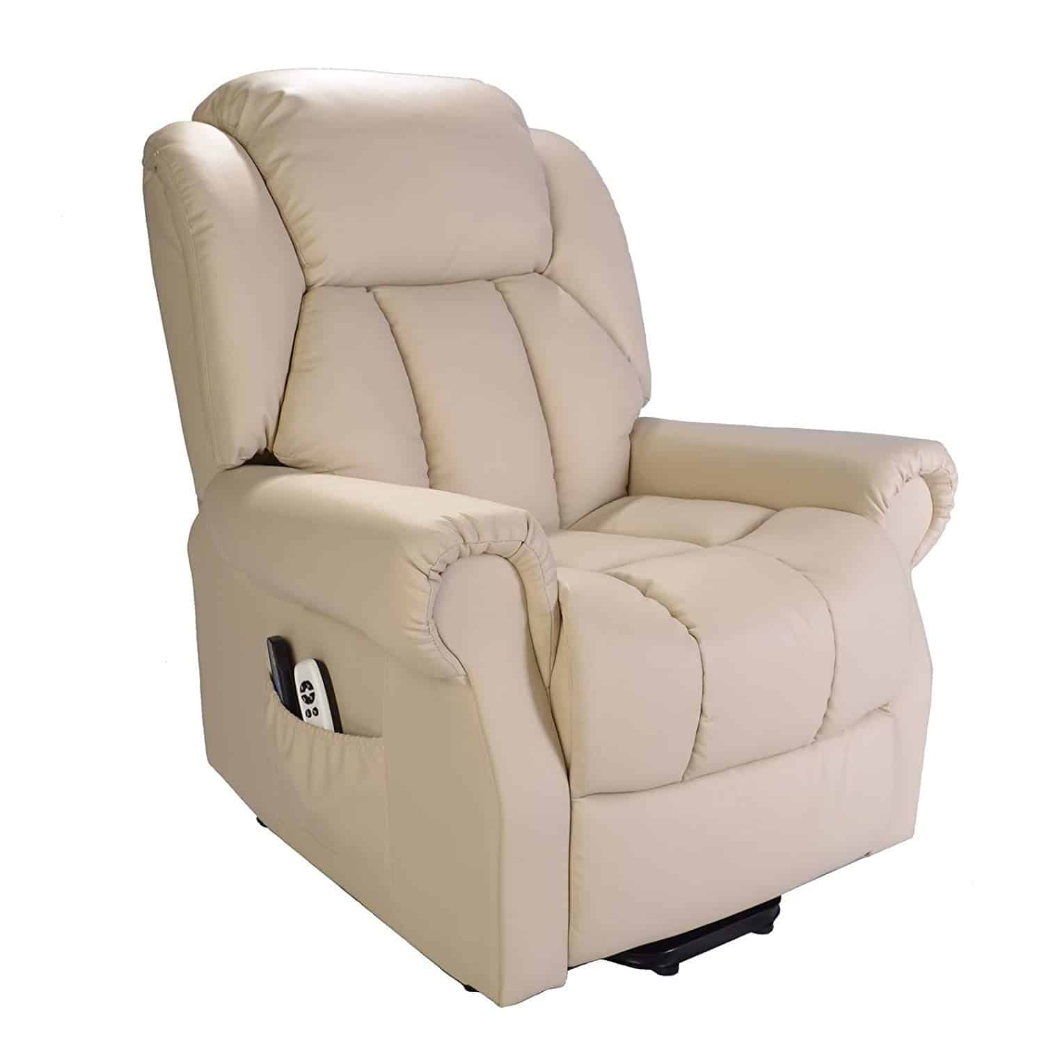 Hainworth Leather Electric Powered Recliner Chair with Heat and Massage