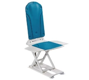 Kanjo Silverline Antibacterial Reclining Bathlift with Blue Covers the for Elderly, Disabled, Accessibility Aid
