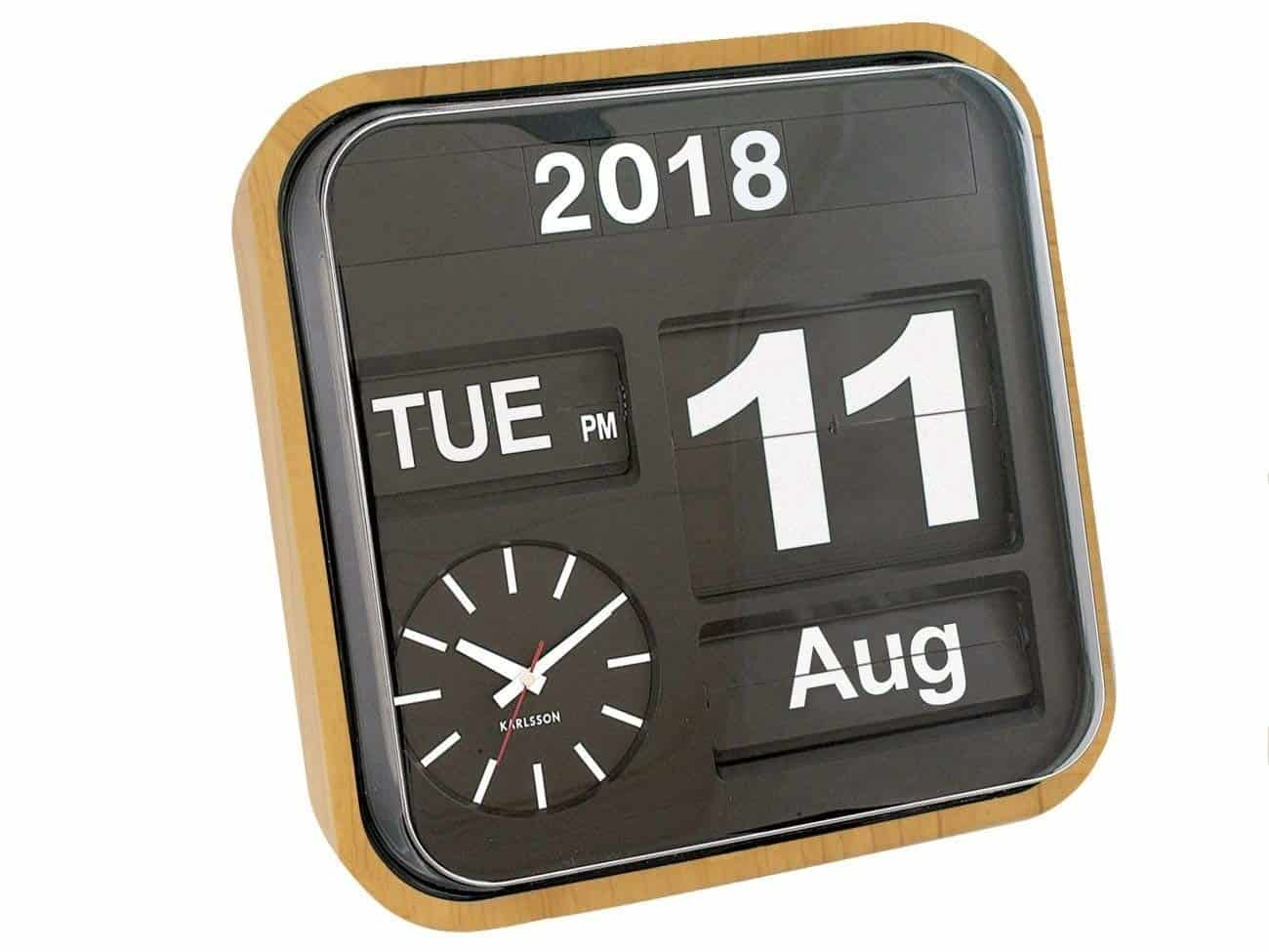 Karlsson Flip Calendar Wall Clock