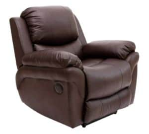Leather Automatic Recliner Armchair