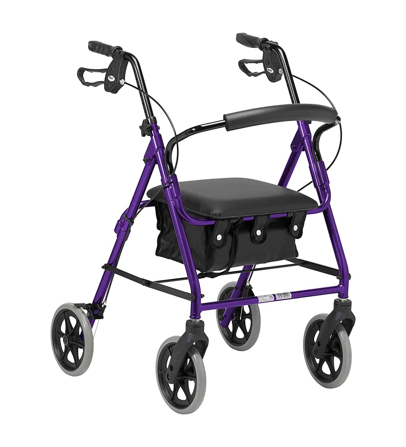Lightweight Folding 4 Wheel Rollator Walker