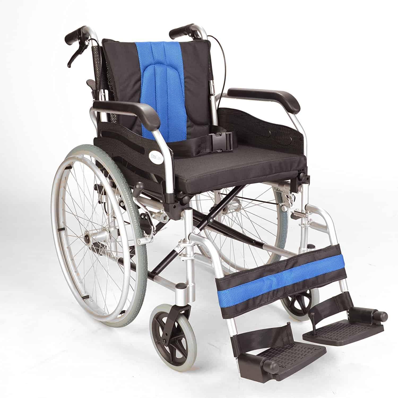 Lightweight folding self propel wheelchair with handbrakes