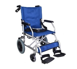 Lightweight folding transit travel wheelchair
