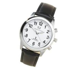 Men's Radio Controlled Atomic Talking Speaking Watch