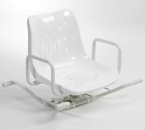 NRS Healthcare Adjustable Aluminum Swiveling Bath Seat