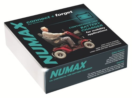 Numax 24V Connect & Forget Mobility Battery Charger 4amp