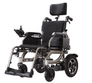 Power Wheelchair with Reclinable Backrest