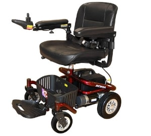 lightweight electric folding wheelchair with lithium battery