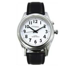 Radio Controlled Talking Watch with Leather Strap