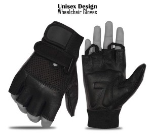 Rebz Leather Wheelchair Gloves