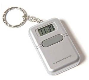 Talking Keyring Alarm Clock - Watch