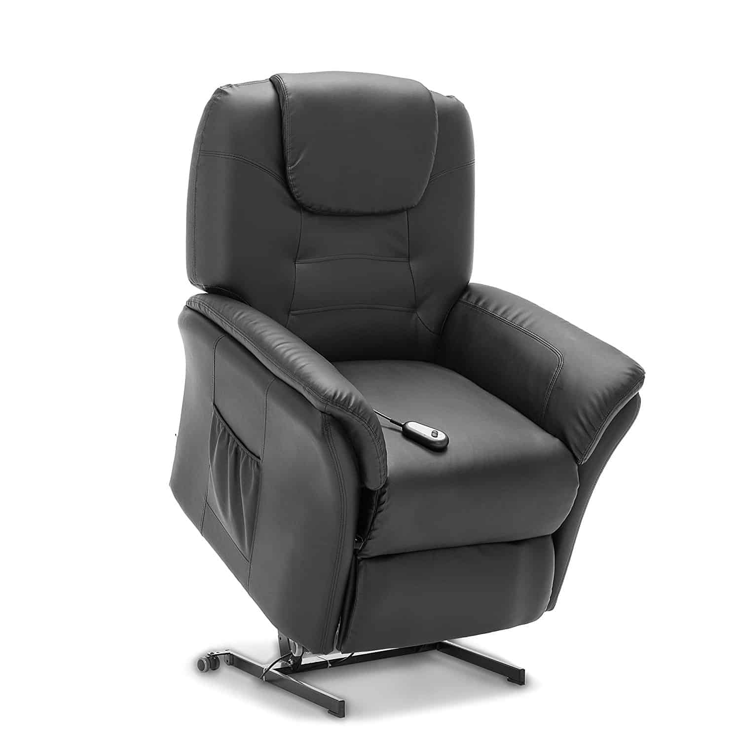 WINDSOR ELECTRIC RISE RECLINER BONDED LEATHER ARMCHAIR SOFA HOME LOUNGE CHAIR