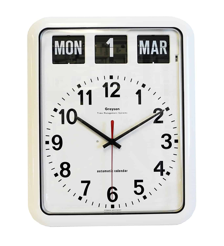 White 'Perpetual' Calendar Clock