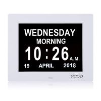 Clock with day and date for Alzheimers