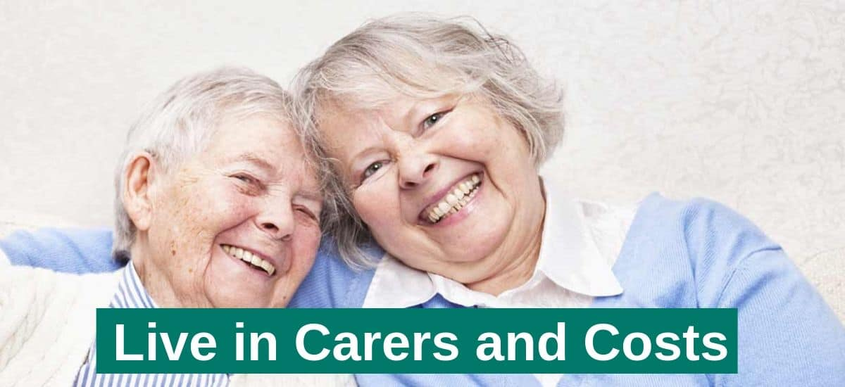 costs of live in carer uk