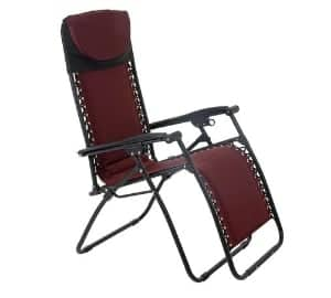 padded reclining garden chairs