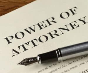 power of attorney fees and costs