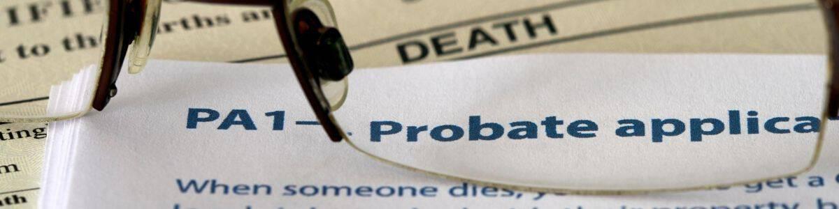 Probate application form