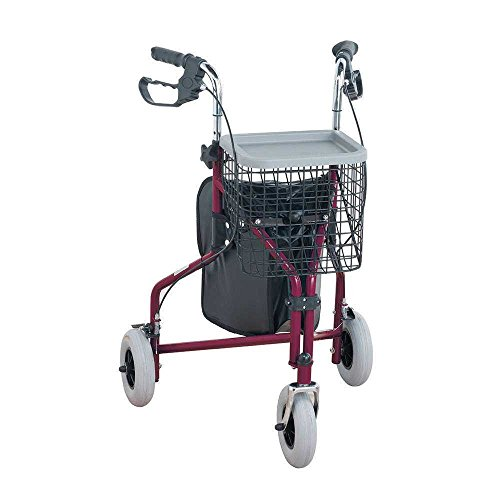 3 Wheeled Tri Walker Easy to Use – RED