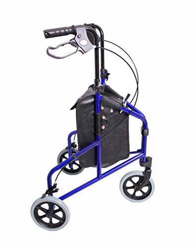 Angel Mobility Lightweight Rollator Folding Tri Walker