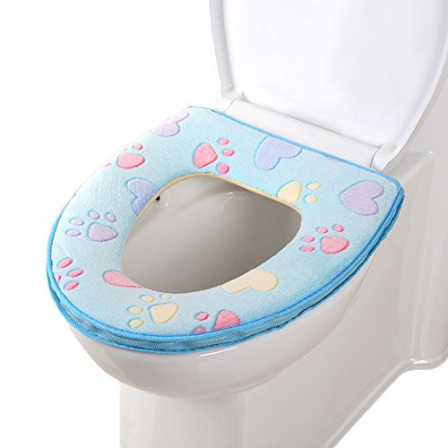 toilet seat covers uk. CHIC MALL Toilet Seat Cover  Bathroom Warmer Plush Soft Round