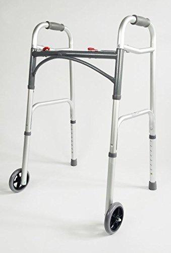 Folding Walking Frame With Wheels Lightweight Walking