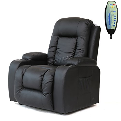 FoxHunter Bonded Leather Massage Cinema Riser Recliner ...
