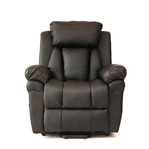 Foxhunter Bonded Leather Massage Cinema Riser Recliner