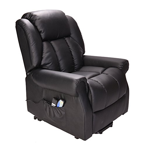 Leather Electric Recliner Sofa Uk: Hainworth Leather Electric Recliner Chair With Heat And