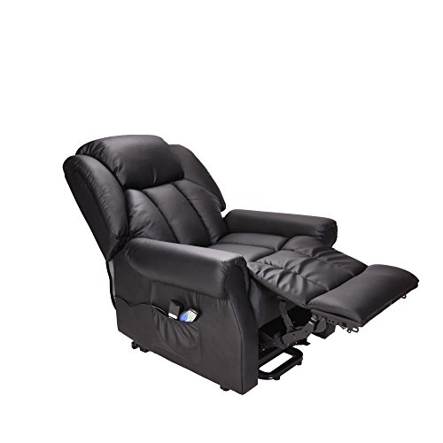 Hainworth Leather Electric Recliner Chair ...