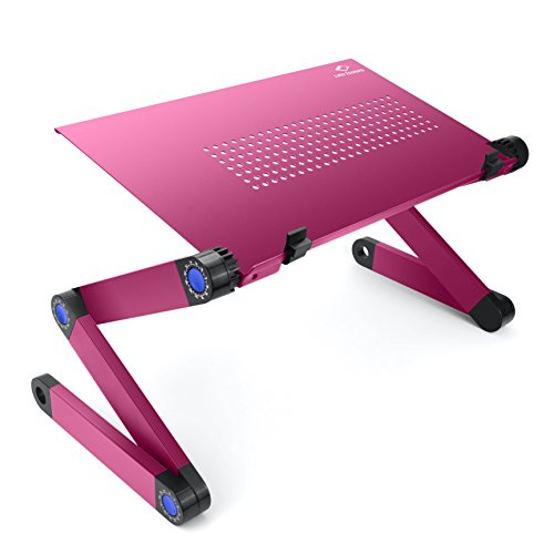 Lifebasis Laptop Stand Tray Adjustable Folding Bed Table