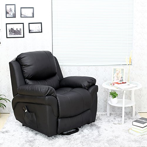 Madison Elecrtic Rise Recliner Real Leather Armchair Sofa