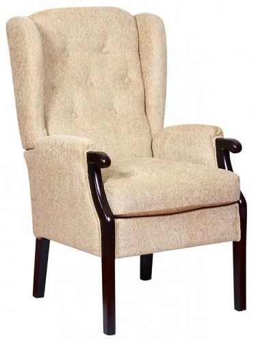 Rome Orthopedic High Back Chair Queen Anne Style Fireside Chair